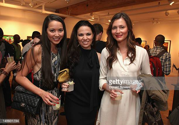 Stephanie Conrad Julie Boardman and Ally Ulrich attend ArtNowNY Launches In Chelsea With Inaugural Exhibition | Art Now A Survey of Urban...