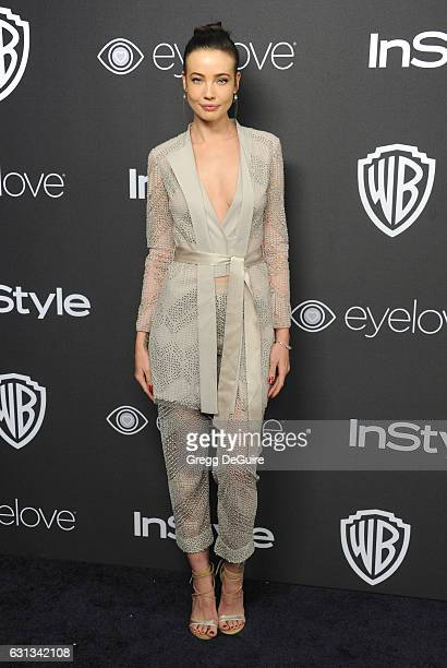 Stephanie Corneliussen arrives at the 18th Annual PostGolden Globes Party hosted by Warner Bros Pictures and InStyle at The Beverly Hilton Hotel on...