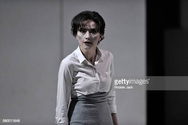 Stephanie d' Oustrac as Beatrice in Glyndebourne's production of Hector Berlioz's Beatrice et Benedict directed by Laurent Pelly and conducted by...