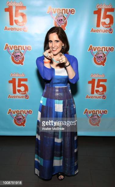 Stephanie D'abruzzo attends the 'Avenue Q' 15th Anniversary Performance Celebration at Novotel on July 31 2018 in New York City