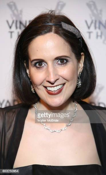 Stephanie D'Abruzzo attends the Vineyard Theatre 2017 Gala at the Edison Ballroom on March 14 2017 in New York City