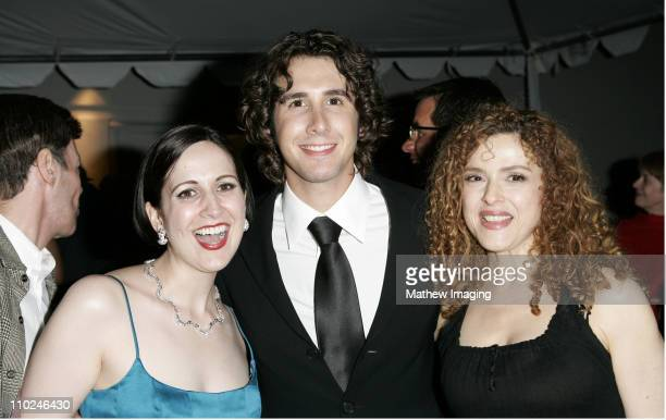 Stephanie D'Abruzzo Josh Groban and Bernadette Peters **exclusive**