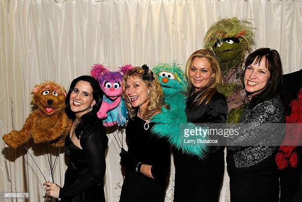 *EXCLUSIVE* Stephanie D'Abruzzo Leslie CarraraRudolph Carmen Osbahr and Pam Arciero of Sesame Street attend the 2010 AFTRA AMEE Awards at The Grand...