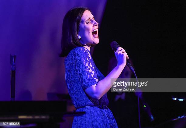 Stephanie D'Abruzzo performs during the Tribute Concert Honoring Barbara Siegel at Metropolitan Room on January 27 2016 in New York City