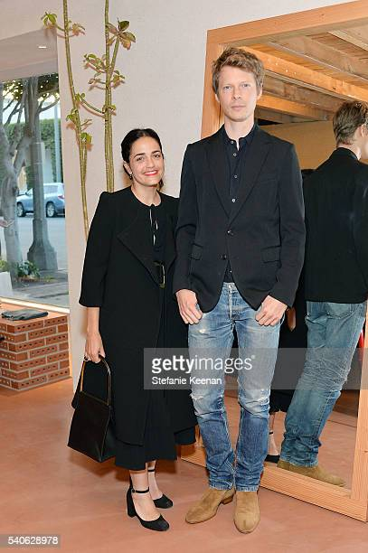Stephanie Danan and Justin Kern attend Rachel Comey Los Angeles Store Opening on June 15 2016 in Los Angeles California