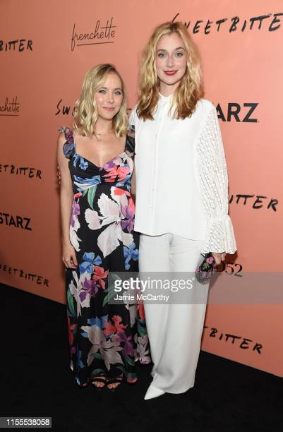 Stephanie Danler and Caitlin FitzGerald attend the Sweetbitter Season Two NY premiere on June 12 2019 at The Roxy Cinema in New York City