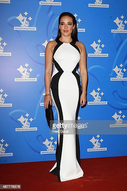 Stephanie Davis attends the National Lottery Awards at The London Television Centre on September 11 2015 in London England