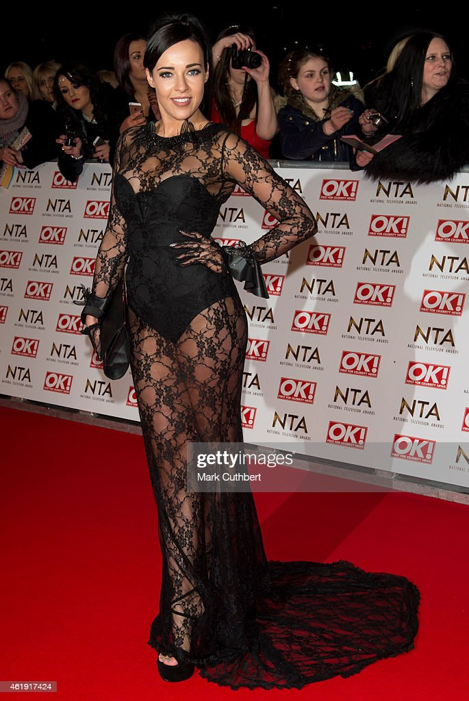 Stephanie Davis attends the National Television Awards at 02 Arena on January 21, 2015 in London, England.