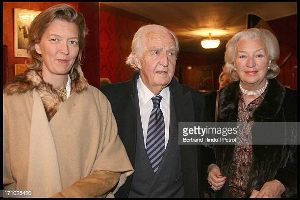 Stephanie De Tocqueville with parents Comte and Comtesse De Lalaing Duchesse Sophie De Wurttemberg at The Paris Production Of The Show Une Comedie...