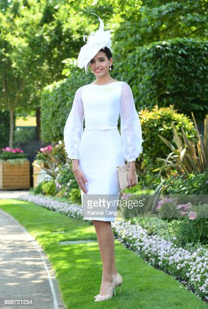 Stephanie Del Valle attends Royal Ascot 2017 at Ascot Racecourse on June 20 2017 in Ascot England