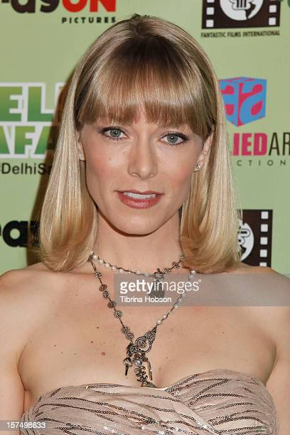 Stephanie Drapeau attends the Delhi Safari Los Angeles premiere at Pacific Theatre at The Grove on December 3 2012 in Los Angeles California