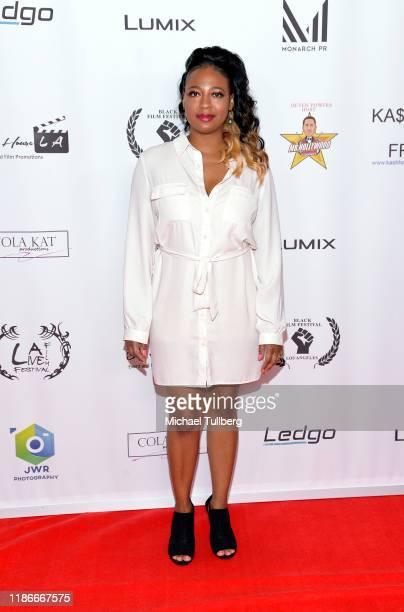 Stephanie Dumas attends the Kash Hovey and Friends Film Block at Film Fest LA at Regal Cinemas LA LIVE Stadium 14 on November 09 2019 in Los Angeles...