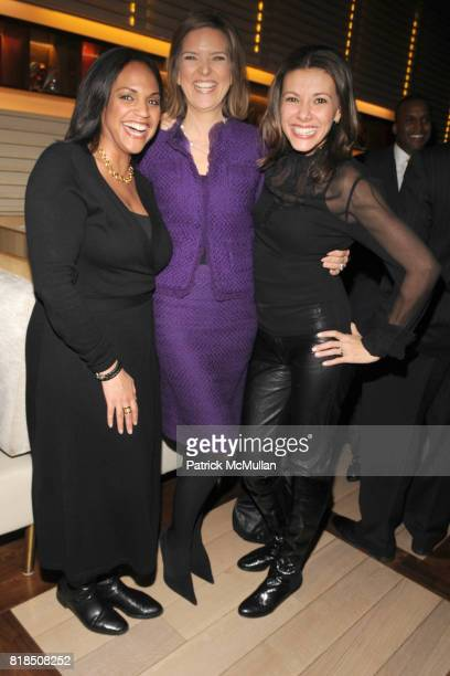 Stephanie Elam Christine Romans Kiran Chetry attend the Reception For DR SANJAY GUPTA's Book and DVD CHEATING DEATH at Rogue Tomate on December 14...