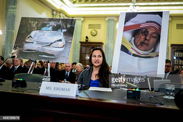 Stephanie Erdman testifies at a Senate Committee on Commerce Science and Transportation hearing on defects with Takata Corp airbags in Washington DC...