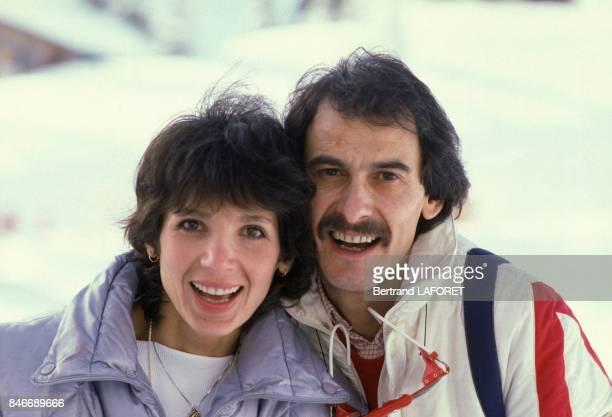 Stephanie et Michel Fugain au Festival du Film Fantastique en janvier 1982 a Avoriaz France