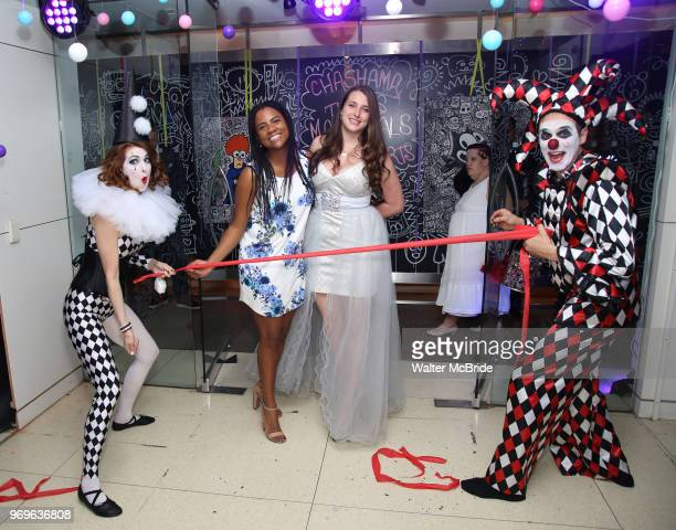 Stephanie Fernandez and Leah Lane and Chashama Performance Artists during The Chashama Gala at 4 Times Square on June 7 2018 in New York City