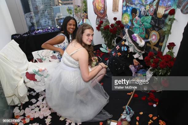 Stephanie Fernandez and Leah Lane during The Chashama Gala at 4 Times Square on June 7 2018 in New York City