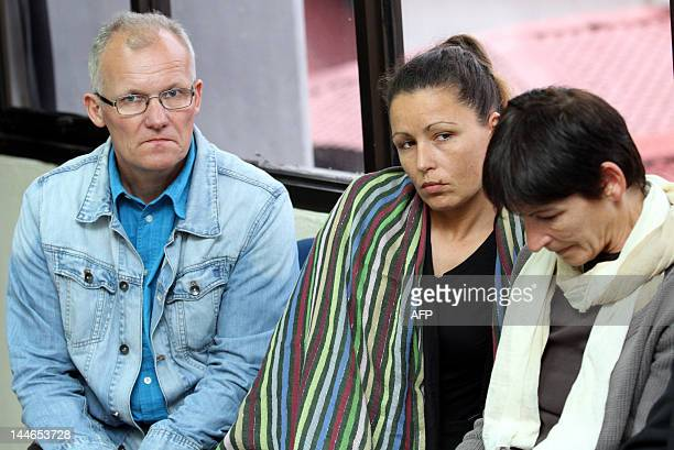 Stephanie Foray's family father Joen sister Vanessa and mother Irene attend the trial of murder suspect Asni Omar at the high court in Kuantan on May...
