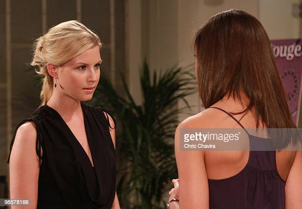 CHILDREN Stephanie Gatschet and Denise Vasi in a scene that airs the week of April 26 2010 on Walt Disney Television via Getty Images Daytime's All...
