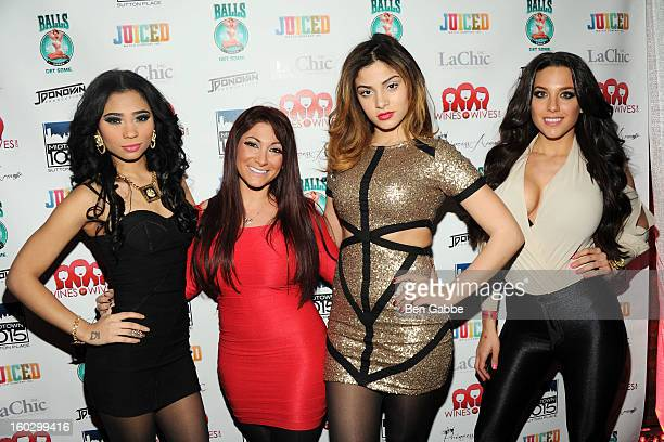 Stephanie George Deena Cortese Christina Salgado and Jenna Russo attend 'Jerseylicious' Season 5 Premiere Party at Midtown Sutton on January 28 2013...