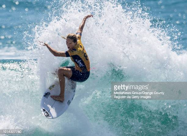 Stephanie Gilmore is the runnerup of the US Open of Surfing in Huntington Beach on Sunday Aug 5 2018