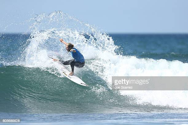 Stephanie Gilmore of Australia in action during her final heat at the 2016 Swatch Women's Pro at Trestles at San Onofre State Beach on September 14...
