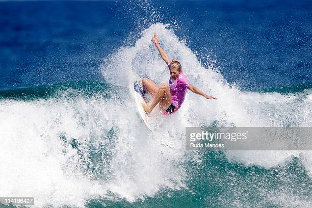 Stephanie Gilmore of Australia in action during Round 4 of the Billabong Rio Pro at Barra da Tijuca on May 15 2011 in Rio de Janeiro Brazil