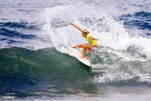 Stephanie Gilmore of Australia surfs during Vans Triple Crown
