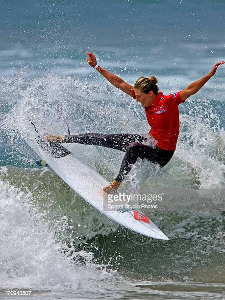 Stephanie Gilmore surfs in the 2012 US Woman's Open in Huntington Beach California