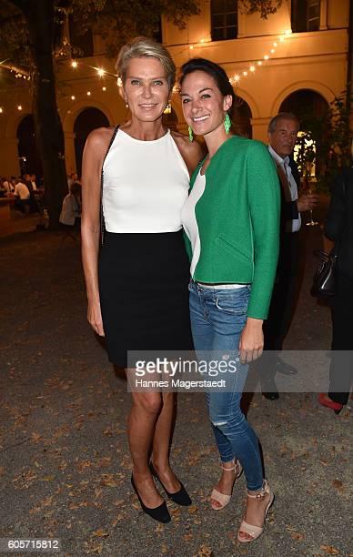 Stephanie Graefin von Pfuel and Charlotte Graefin von Oeynhausen during a cocktail reception hosted by the Dorotheum on September 14 2016 in Munich...