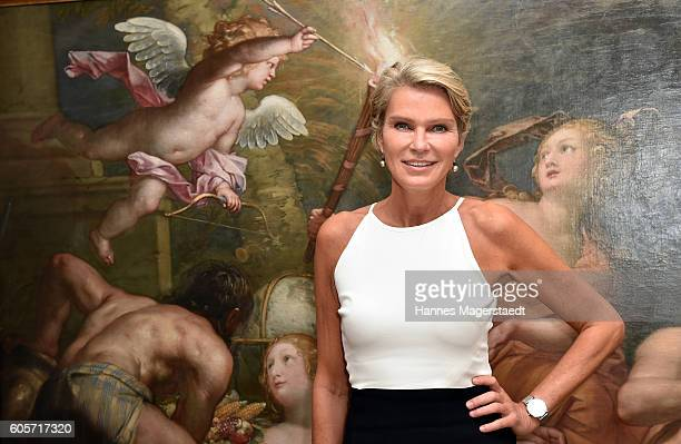Stephanie Graefin von Pfuel during a cocktail reception hosted by the Dorotheum on September 14 2016 in Munich Germany
