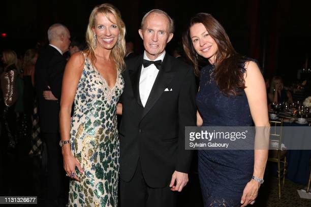 Stephanie Hessler Mark Gilbertson and Paige Boller attend Museum Of the City Of New York Winter Ball at Cipriani 42nd Street on February 21 2019 in...