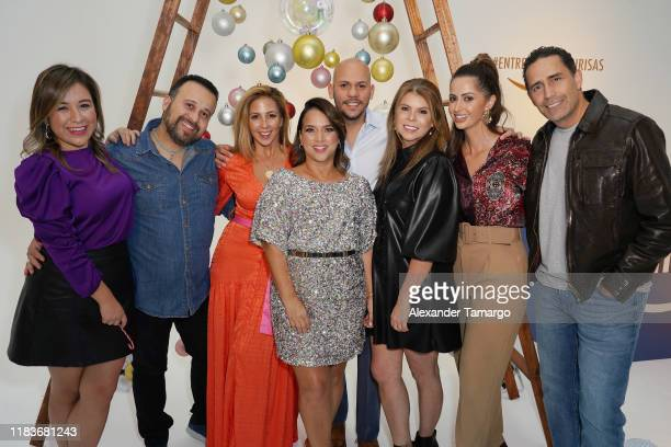 Stephanie Himonidis Adamari Lopez Paulina Sodi celebrate the holiday season with Fiestas Amazon on November 20 2019 in Miami Florida Stephanie...