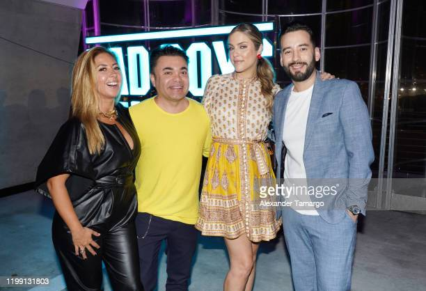 Stephanie Himonidis Oscar Petit Daniela DI Giacomo and Francisco Caseres at the Bad Boys For Life Miami After Party at 1111 Lincoln Road on January...