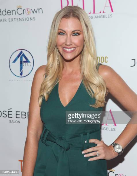 Stephanie Hollman attends Bella Magazine NYFW Kickoff Party at The Attic Rooftop Lounge on September 6 2017 in New York City
