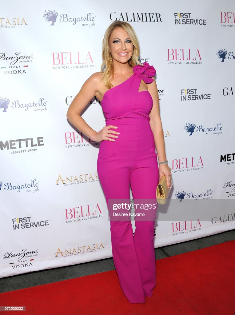 Stephanie Hollman attends BELLA New York Spring Issue Cover Party hosted by Kelly Osbourne at Bagatelle on April 24, 2017 in New York City.