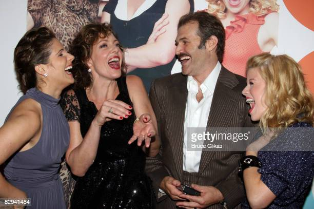 Stephanie J Block Allison Janney Marc Kudisch and Megan Hilty pose at The Opening Night Party for The World Premiere of Dolly Parton's 9 to 5 at The...