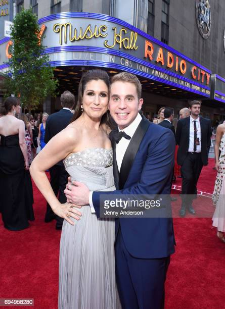 Stephanie J Block and Ben Platt attends the 2017 Tony Awards at Radio City Music Hall on June 11 2017 in New York City