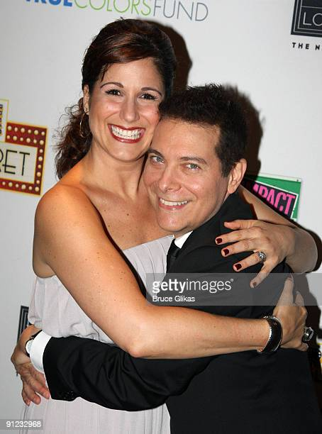 Stephanie J. Block and Michael Feinstein attend the True Colors Cabaret at Feinstein's on September 28, 2009 in New York City.