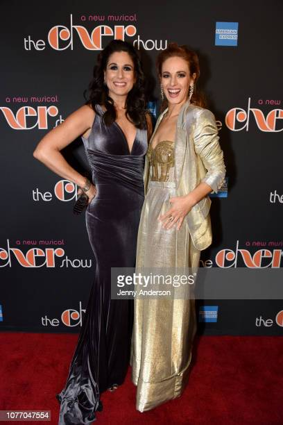 """Stephanie J. Block and Teal Wicks pose at """"The Cher Show"""" Broadway Opening Night - After Party at Pier 60 on December 03, 2018 in New York City."""