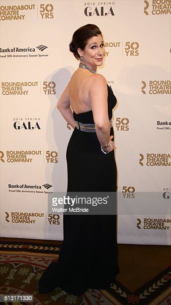 Stephanie J Block attends the Roundabout Theatre Company's 50th Anniversary Gala at The WaldorfAstoria on February 29 2016 in New York City