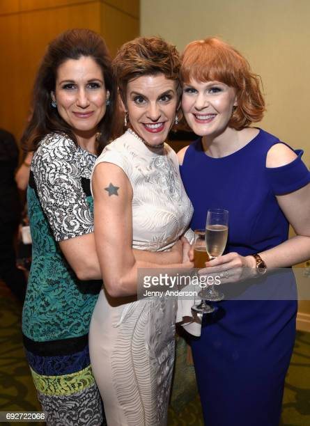 Stephanie J Block Jenn Colella and Kate Baldwin attend the Tony Honors Cocktail Party Presenting The 2017 Tony Honors For Excellence In The Theatre...