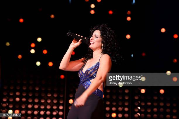 Stephanie J Block performs onstage at The Cher Show Broadway Opening Night at Neil Simon Theatre on December 03 2018 in New York City