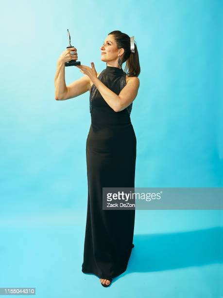 Stephanie J Block winner for Best Performance by an Actress in a Leading Role in a Musical for The Cher Show poses for a portrait during the 73rd...