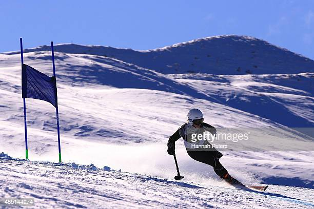 Stephanie Jallen of the United States competes in the Women Giant Slalom Standing LW91 in the IPC Alpine Adaptive Giant Slalom Southern Hemisphere...