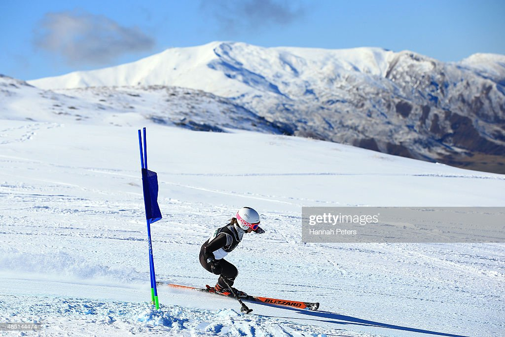 Stephanie Jallen of the United States competes in the Women Giant Slalom Standing LW9-1 in the IPC Alpine Adaptive Giant Slalom Southern Hemisphere Cup during the Winter Games NZ at Coronet Peak on August 25, 2015 in Queenstown, New Zealand.
