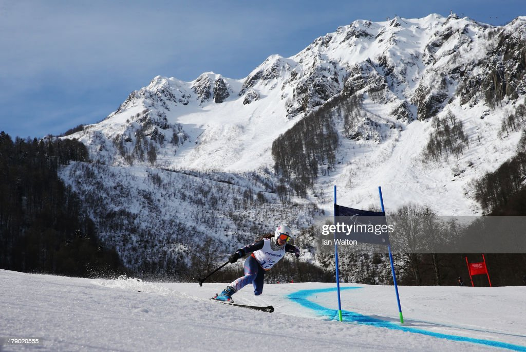 Stephanie Jallen of the United States competes in the Women's Giant Slalom Standing during day nine of the Sochi 2014 Paralympic Winter Games at Rosa Khutor Alpine Center on March 16, 2014 in Sochi, Russia.