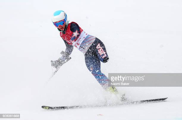 Stephanie Jallen of the United States makes a run during Downhill training ahead of the PyeongChang 2018 Paralympic Games at Jeongseon Alpine Centre...