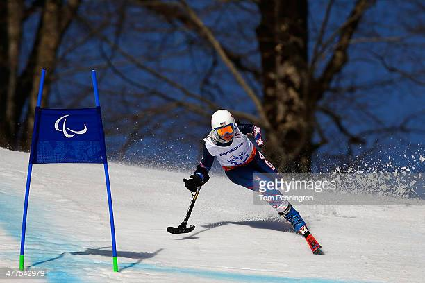 Stephanie Jallen of USA competes in the Women's SuperG Standing during day three of Sochi 2014 Paralympic Winter Games at Rosa Khutor Alpine Center...