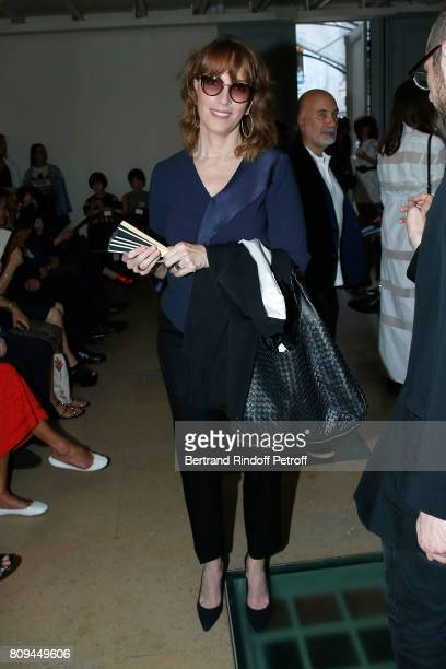 Stephanie Jarre attends the Azzedine Alaia Fashion Show as part of Haute Couture Paris Fashion Week Held at Azzedine Alaia Gallery on July 5 2017 in...